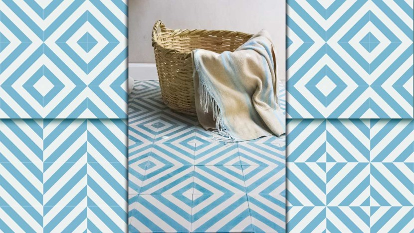 la baldosa hidr ulica white and blue ibiza. Black Bedroom Furniture Sets. Home Design Ideas